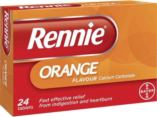 Rennie Orange Flavour Pack of 24