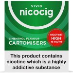 Nicocig Refills High Strength 16mg Menthol Flavour Pack of 3 (30 Packs)