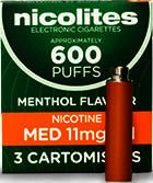 Nicolites Refills Medium Strength Menthol Flavour Pack of 3