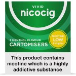 Nicocig Refills Low Strength 6mg Menthol Flavour Pack of 3
