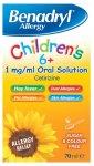 Benadryl Allergy Relief 1mg Solution Childrens 6+ 70ml