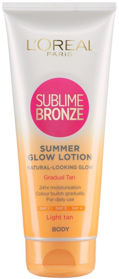 L'Oreal Sublime Bronze Summer Glow Gradual Tan Light 200ml