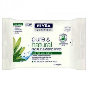 Nivea Visage Pure & Natural Cleansing Wipes Pack of 25