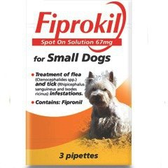 Bob Martin Fiprokil Spot On Small Dogs Pack Of 3 Pipette 67mg