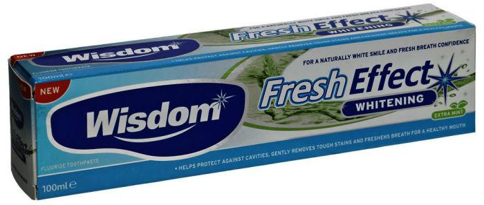 Wisdom Fresh Effect Whitening Toothpaste 100ml