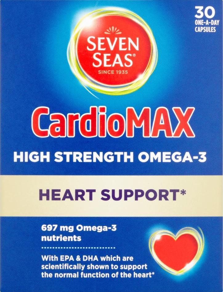 Seven Seas Cardiomax High Strength Capsules Pack of 30