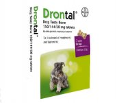 Drontal Bone Shaped Tablets Pack of 2