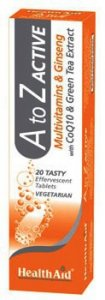 HealthAid A to Z Active Effervescent Tablets Pack of 20
