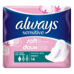Always Sensitive Normal Ultra with Wings Pack of 14