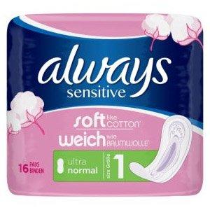 Always Sensitive Normal Ultra Pack of 16
