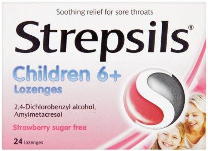 Strepsils Lozenges for Children Strawberry Pack of 24