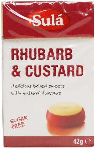 Sula Sugar Free Sweets Rhubarb & Custard 42g