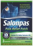 Salonpas Pain Relief Patches Pack of 3
