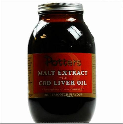 Potter's Malt Extract Cod Liver Oil & Butterscotch 650g