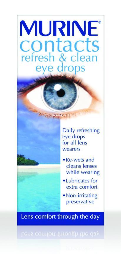Murine Contacts Refresh & Clean Eye Drops 15ml