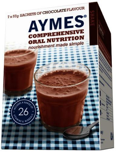 Aymes Nutritional Milkshake Chocolate Flavour Sachet 57g Pack of 7