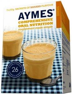 Aymes Nutritional Milkshake Banana Flavour 57g Sachet 57g Pack of 7