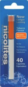 Nicolites Disposable Electronic Cigarette Tobacco Medium 40