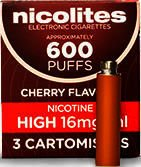 Nicolites Refills High Strength Cherry Flavour Pack of 3