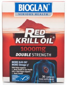 Bioglan Red Krill Oil Double Strength Capsules 1000mg Pack of 30