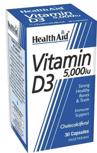 HealthAid Vitamin D3 5,000iu Capsules Pack of 30