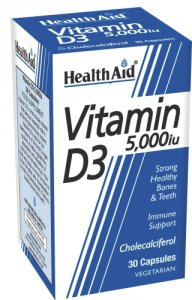 HealthAid Vitamin D3 5,000iu Capsules Pack of 30