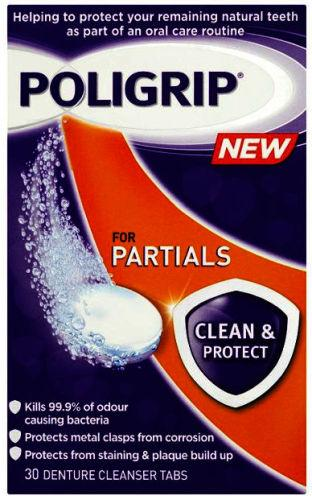 Poligrip Partials Clean & Protect Cleanser Pack of 30