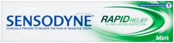 Sensodyne Rapid Relief Mint Fluoride Toothpaste 50ml