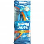 Gillette Blue II Disposable Sensitive Razors Pack of 3