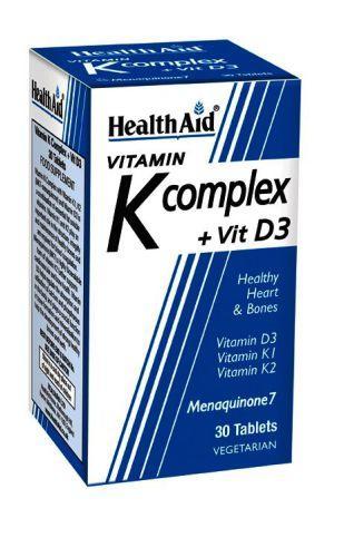 HealthAid Vitamin K Complex + Vitamin D3 Tablets Pack of 30