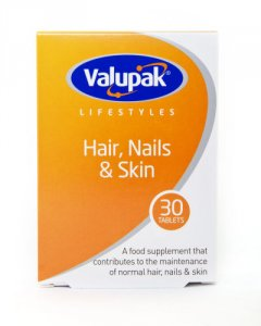 Valupak Hair, Nails & Skin Tablets Pack of 30
