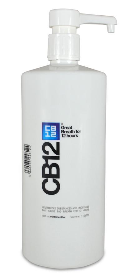 CB12 Safe Breath Oral Rinse Menthol 1 Litre