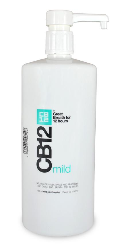 CB12 Safe Breath Oral Rinse Mild 1 Litre