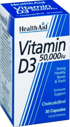 HealthAid Vitamin D3 50,000iu Capsules Pack of 30