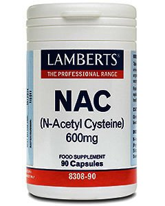 Lamberts NAC (N-Acetyl Cysteine) Capsules Pack of 90