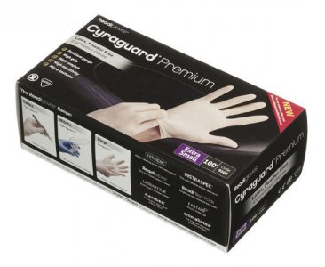 Readigloves Cyraguard Premium Latex Gloves Extra Small Pack of 100