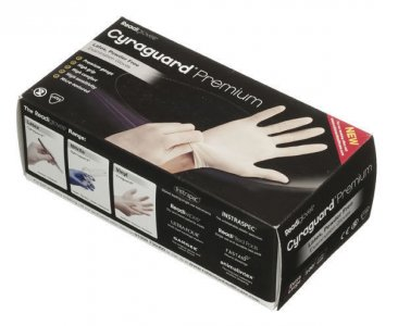 Readigloves Cyraguard Premium Latex Gloves Medium Pack of 100