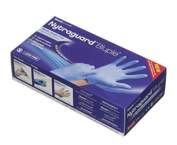 Readigloves Nytraguard Tough Nitrile Gloves Large Pack of 100