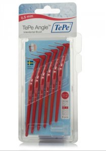 Tepe Angle Interdental Brushes Red 0.5mm Pack of 6