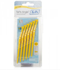 Tepe Angle Interdental Brushes Yellow 0.7mm Pack of 6