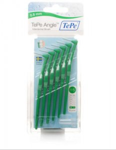 Tepe Angle Interdental Brushes Green 0.8mm Pack of 6