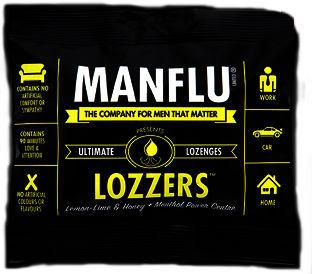 Manflu Lozzers Lemon, Lime & Honey 50g