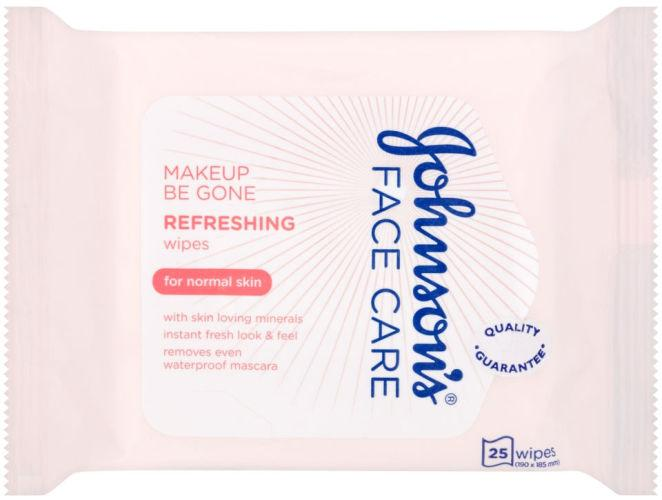 Johnsons Makeup Be Gone Refreshing Wipes Pack of 25