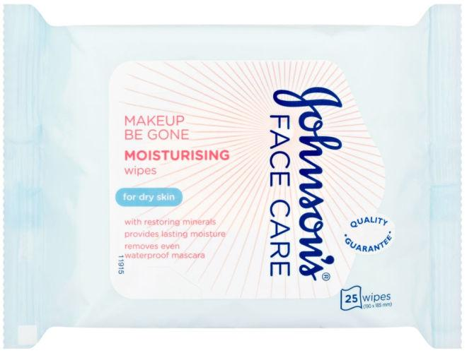 Johnsons Makeup Be Gone Moisturising Wipes Pack of 25