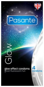 Pasante Glow in the Dark Condoms Pack of 4