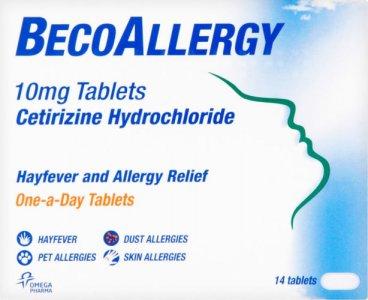 BecoAllergy Hayfever Tablets Pack of 14