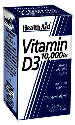 HealthAid Vitamin D3 10,000iu Capsules Pack of 30