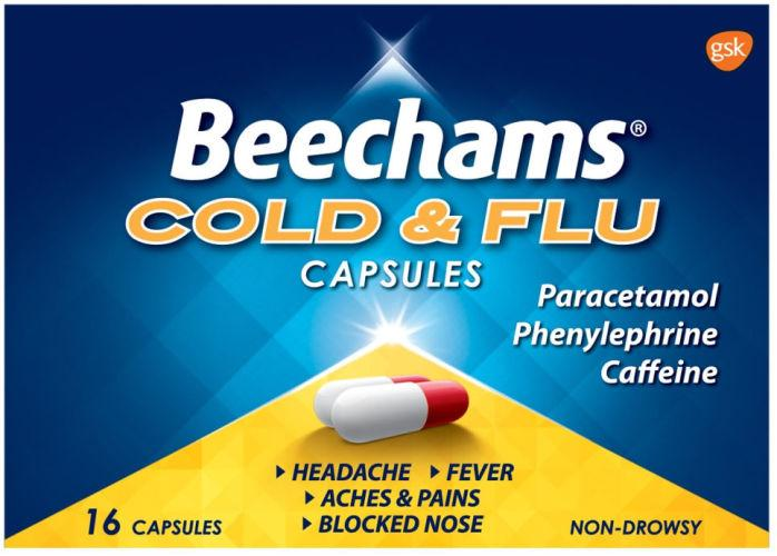 Beechams Cold & Flu Capsules Pack of 16