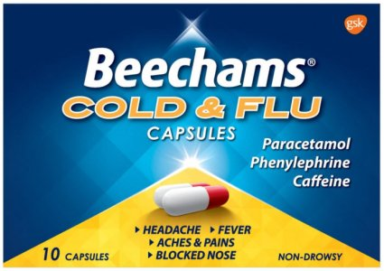 Beechams Cold & Flu Capsules Pack of 10