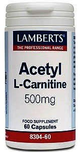 Lamberts Acetyl L-Carnitine 500mg Capsules Pack of 60